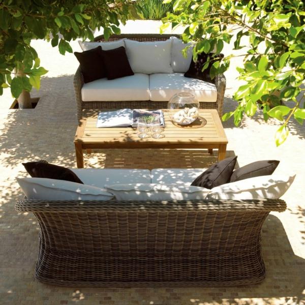 coole idee relax liege und sofa im garten havana