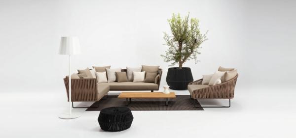 coole idee relax liege und sofa im garten modern
