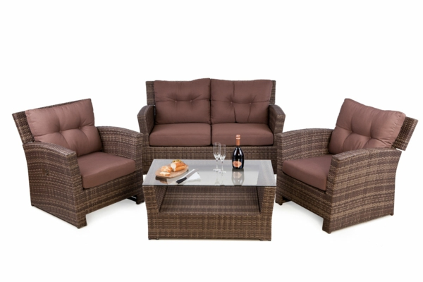 coole idee Sofa und Relax Liege im Garten  rattan