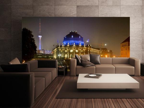 coole wandgestaltung berlin bei nacht fototapete