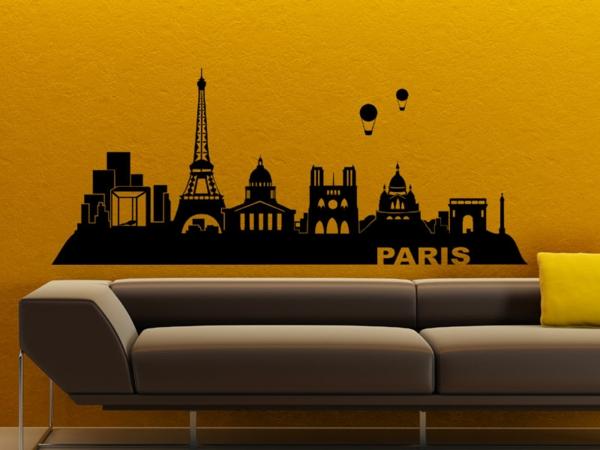 coole wandgestaltung wandtattoo paris