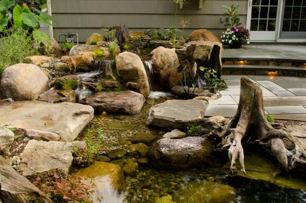 Coole Wasser Garten Ideen - Wasser in der schönen Landschaft