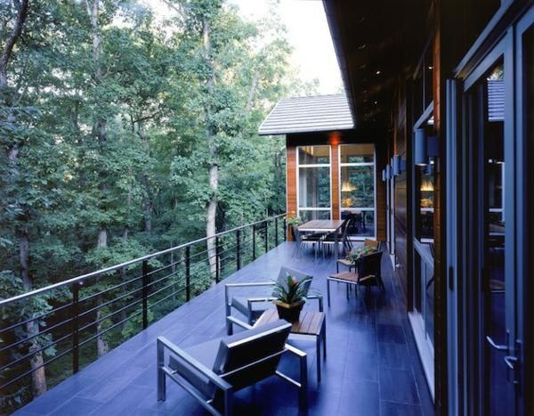 deck design ideen holz material auffallend wald