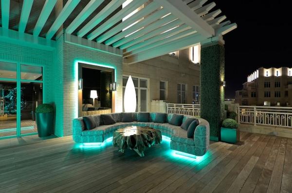 deck design ideen holz material beleuchtung