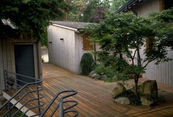 deck design ideen holz material elegant