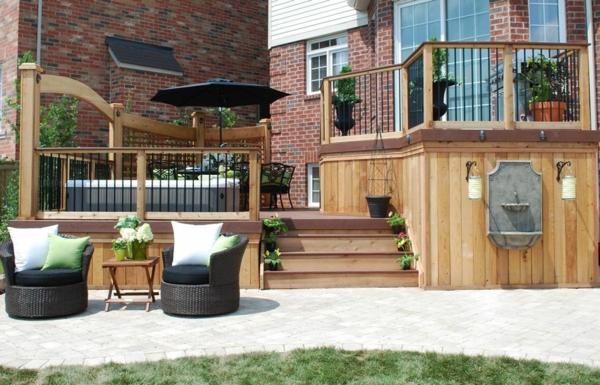 gartenmobel design holz – bankroute, Garten und Bauten