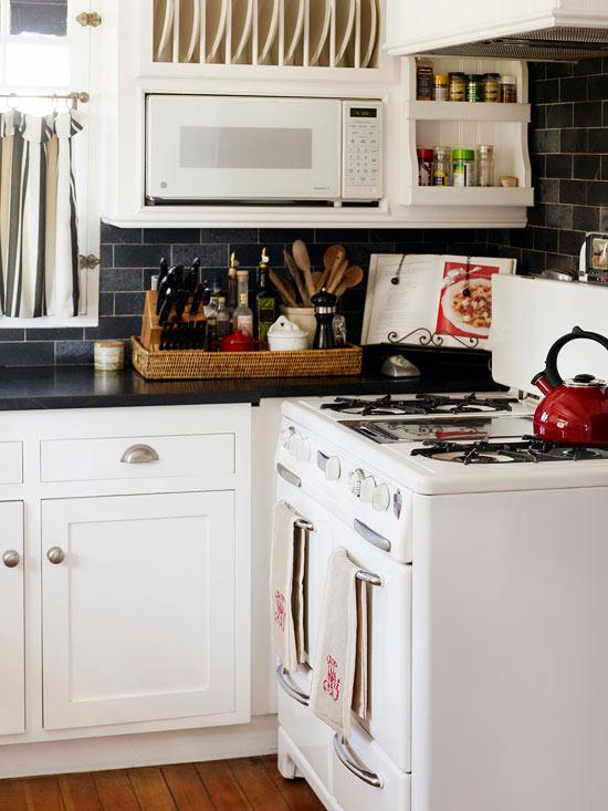 deko ideen haus vintage weiß küche elektrogeräte