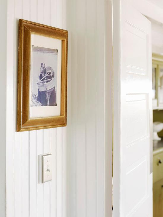 deko ideen haus vintage weiß wand bildrahmen holz foto