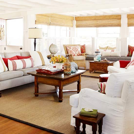 deko ideen haus vintage weiß ziegel kissen wohnzimmer