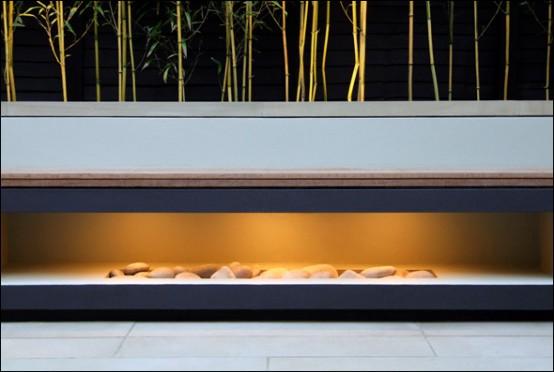 designer balkon gestaltung amir schlezinger kamin holz steine