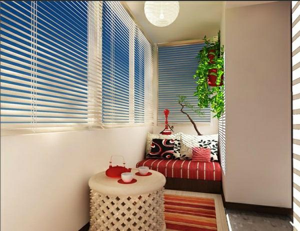 designer balkon projekte idee erholungsecke gitter