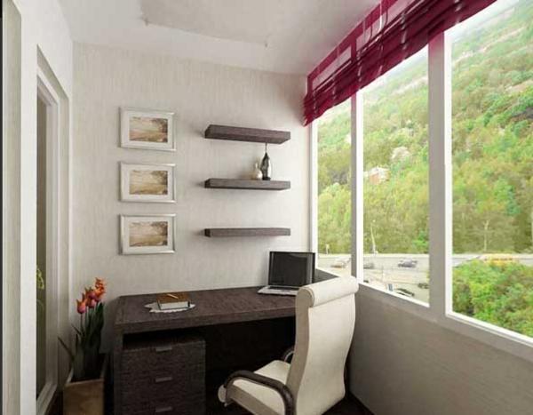 designer balkon projekte idee holz büro weiß lehnstuhl