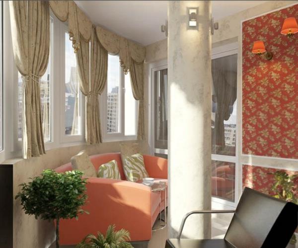 designer balkon projekte idee holz säule