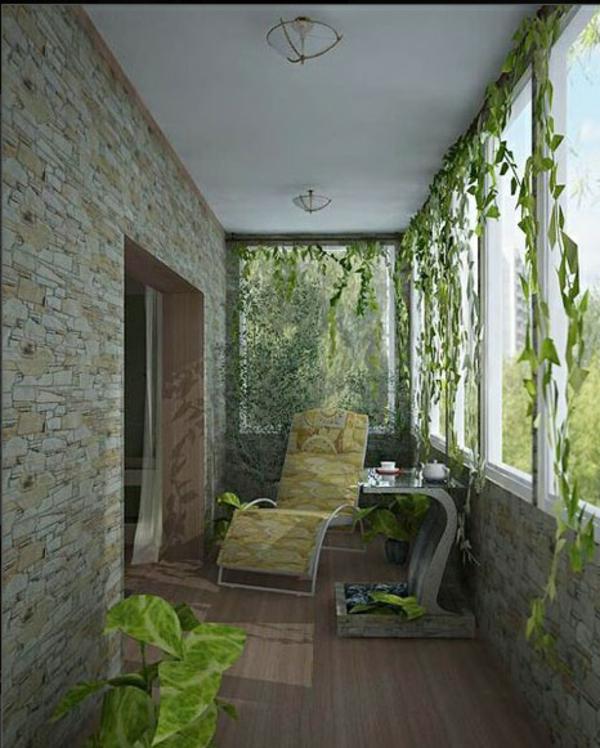 designer terrasse projekt idee klassisch grün laub
