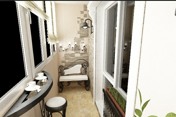 designer balkon projekte idee klassisch weiß
