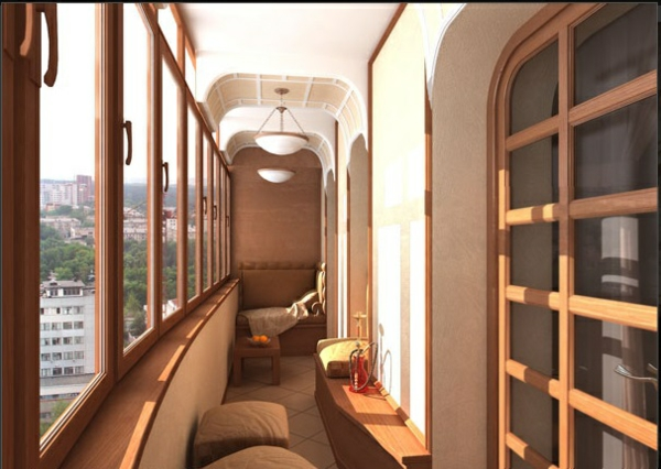 designer balkon projekte idee verlängert braun