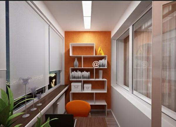 designer balkon projekte idee wand regale weiß
