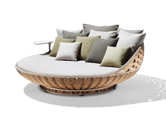 designer balkonmöbel dedon sessel sofa geflochten kissen