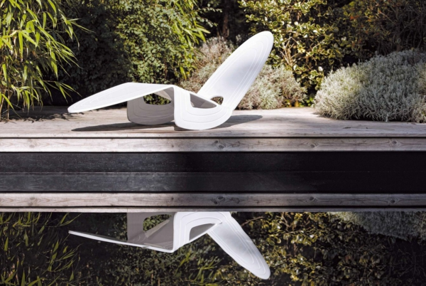 designer trendige relax liegen ideen minimalistisch weiß