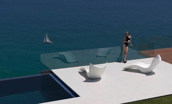 designer trendige relax liegen ideen meer originell toll weiße farbe