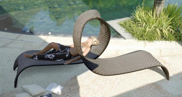 designer trendige relax liegen im garten ideen rattan zwei personen