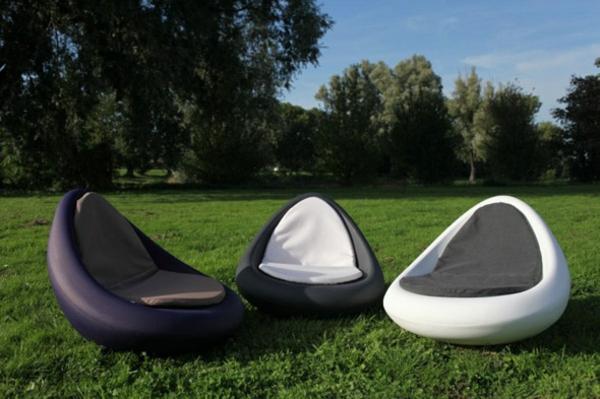 designer trendige relax liegen im garten gartenmöbel ideen weiße liegen schwarz