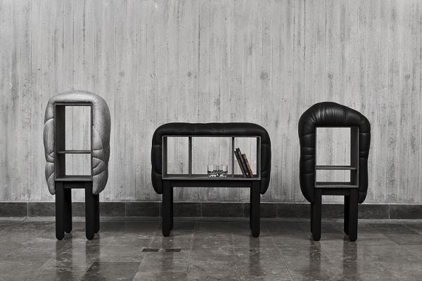 designer möbel succession fredrik färgs gepolstert hocker regale