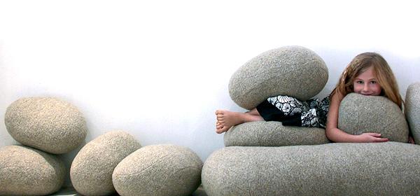 designer sitzkissen smarin steine natur inspiration schurwolle kinderspiel