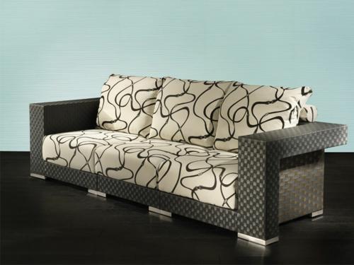 designer sofa muster interessant niedrig auflagen kissen fendi casa