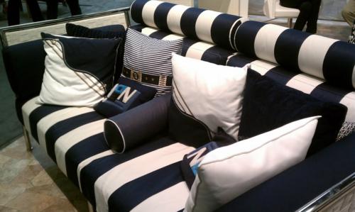 designer sofa nautisch marine streifen blau weiß außenmöbel