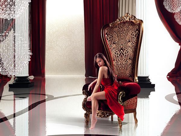 designer throne stuhl samt caspani könig