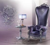 Designer thron sessel von caspani f hlen sie sich wie for Sessel lila samt