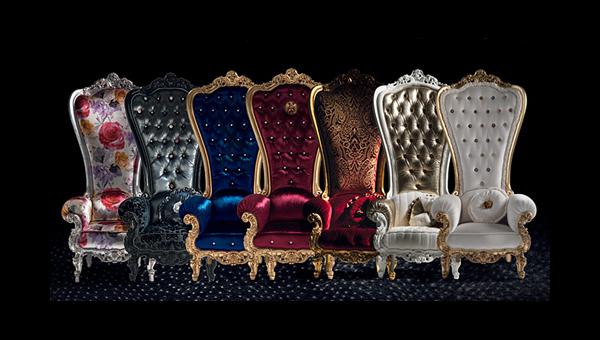 designer throne stuhl  samt caspani sammlung