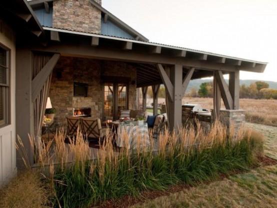 designer veranda terrasse veranda holz vintage möbel holz