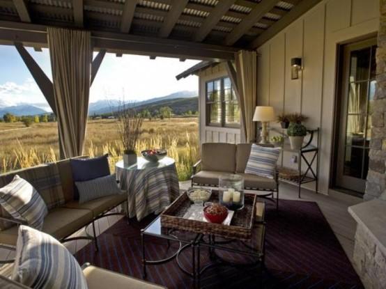 Traumhafte Designer Terrasse Romantisches Ambiente In Der Natur