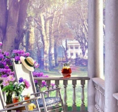 kleiner Balkon gestalten schöne Aussicht genießen