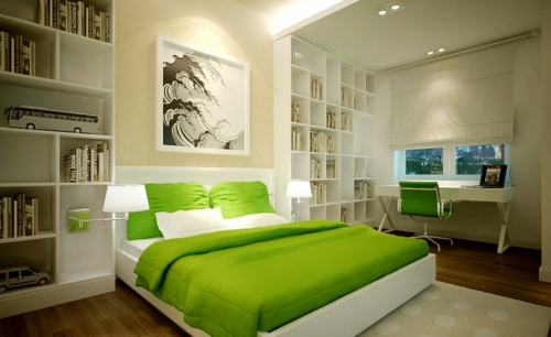 deko ideen schlafzimmer grün – bigschool, Schlafzimmer