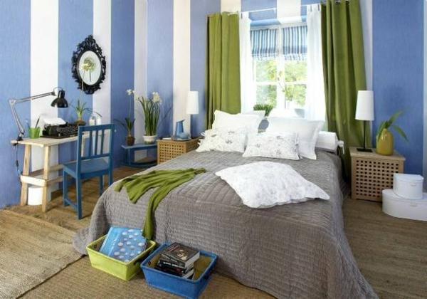 20170129005111 vorhänge schlafzimmer blau ~ easinext.com - Schlafzimmer Grun Blau