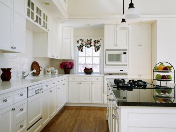 feng shui ideen ofen spülbecken kühlschrank weiß