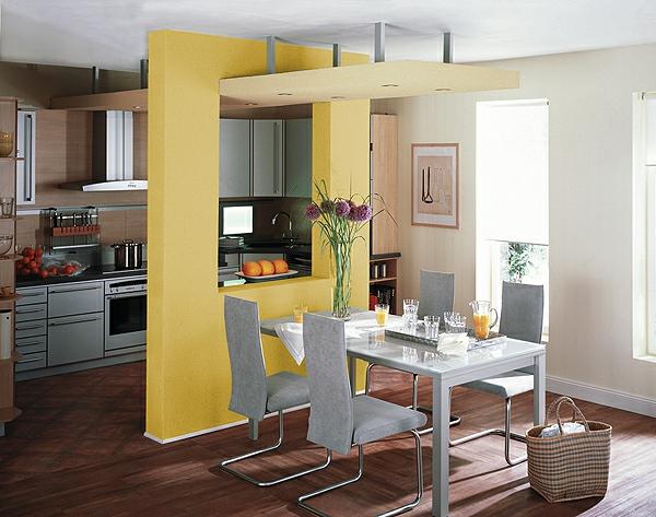 feng shui küche wärme einladend holz gelb blumen essbereich