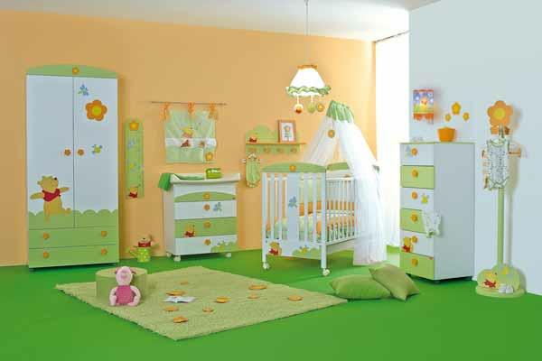 kinderzimmer gestalten grün   hyeyeonpark, Wohnzimmer dekoo
