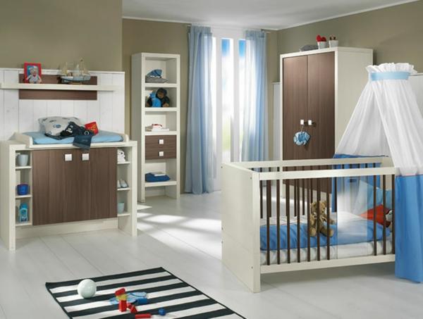 feng shui kinderzimmer - empfangen sie ihr baby in einem gesunden raum - Kinderzimmer Blau Weis