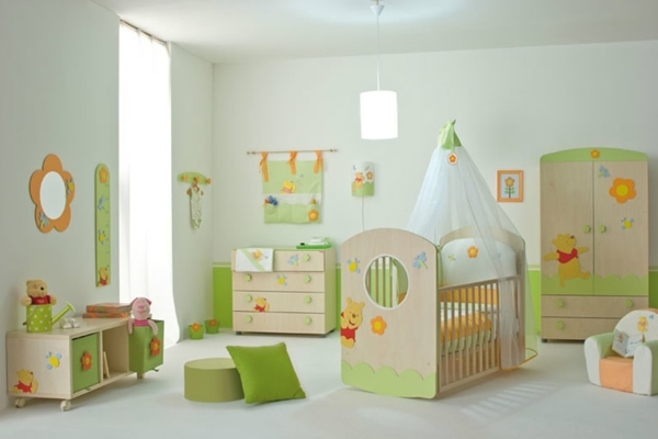 feng shui kinderzimmer weiß frisch hell grün tageslicht