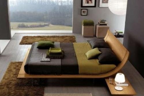 Feng Shui Schlafzimmer Ideen Holz Bett