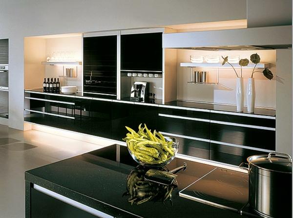 feng shui schwarz unpassend ofen spülbecken kühlschrank weiß