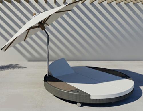 freistehendes bett designer lösung sonnenschirm