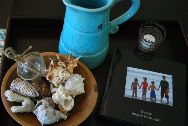 frische Sommer Deko Ideen türkis farbe akzent fotos