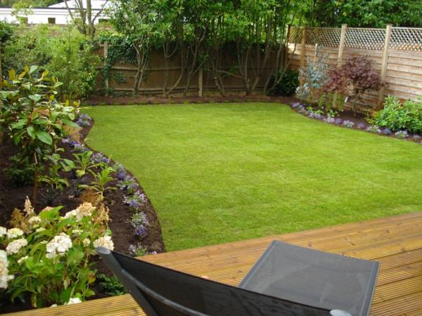 garten verschönern frisch gras