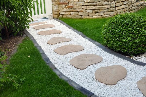 gartengestaltung  steine hof weg klein groß