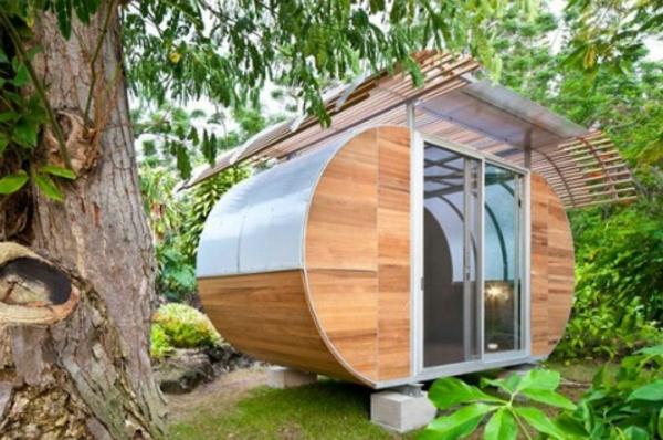 Gartenhauser Aus Holz Schones Und Kompaktes Gartenhaus Im Hinterhof